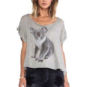 WILDFOX   Gray koala box fit tee women's XS